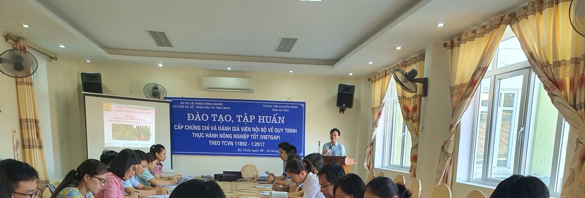 Khai giảng lớp tập huấn cấp chứng chỉ và đánh giá viên nội bộ về quy trình thực hành nông nghiệp tốt (VietGAP)